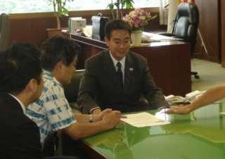 河村市長と前原大臣